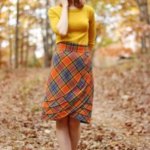 Plenty by Tracy Reese Easy Keeper Plaid Skirt NWT